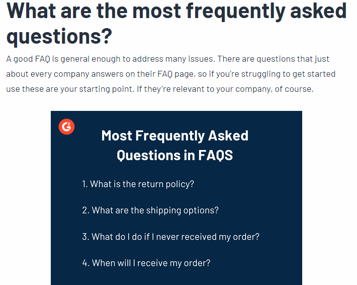 FAQs blog post idea