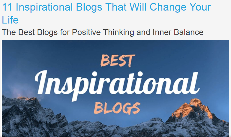 inspiration blog post